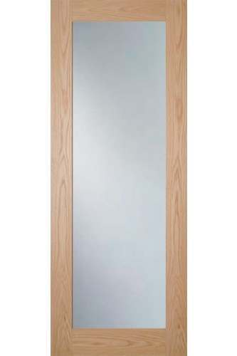 Internal Door Oak Walden with Clear Glass Unfinished SPECIAL OFFER!