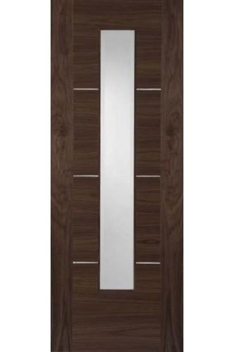 Internal Walnut Door Nova Walnut 1 Light Fire Door