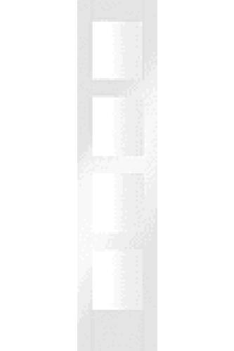 Internal White Primed Shaker 4 Light Demi panel with Clear Glass