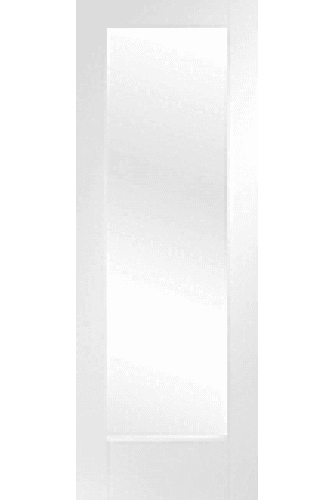 Internal Fire Door White Primed Pattern 10 with clear glass