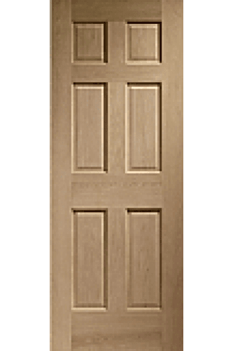 Internal Door Oak Colonial with non raised mouldings