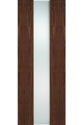 Internal Door Walnut Zaragoza with Obscure Glass Prefinished