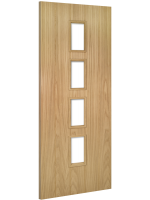 Internal Door Oak Galway with Clear Glass Unfinished