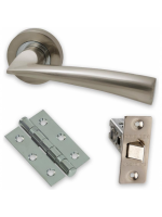 Internal Door HARDWARE PACK Mars on Round Rose Dual Finish LPD