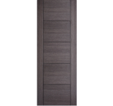 Internal  Fire Door Ash Grey Vancouver 5 Panel Prefinished