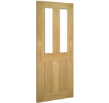 Internal Door Oak Eton with Clear Glass Unfinished