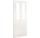 Internal Door White Primed Eton with Clear Glass