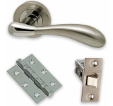Internal Door HARDWARE PACK Venus on Round Rose Dual Finish LPD