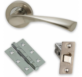 Internal Door HARDWARE PACK Solar on Round Rose Dual Finish LPD