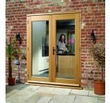 External French Door 4ft Oak La Porte Doorset XL Pre Finished