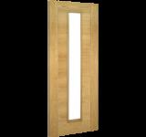 Internal Door Oak Seville with Clear Glass Prefinished
