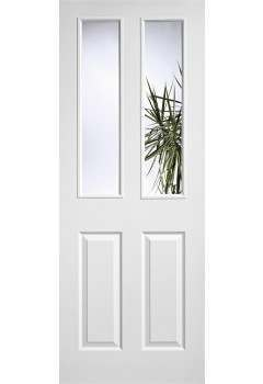 Internal Door White Moulded Textured 2P 2L LPD