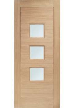 External Door Oak Double Glazed Turin with Obscure Glass Mortice & Tenon