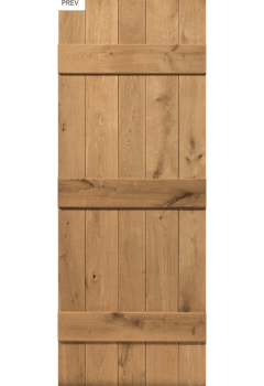 Internal Door Rustic Oak Ledged Untreated (JBK)