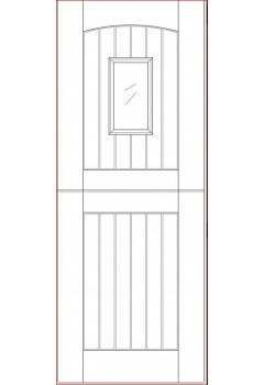External Door Hardwood Sterling Barnburgh Stable 1 Light M&T Unglazed Untreated