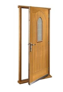 """External Oak Westminster Timber Doorset Prefinished medium light oak (33"""")"""
