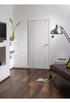 Interanl Fire Door White Forli Pre finished with aluminium inlays