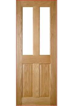Internal Door Oak Bury With Clear Bevelled Glass Prefinished SPECIAL OFFER!