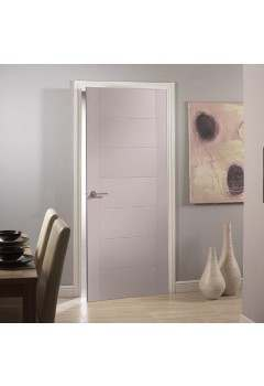 CLEARANCE Internal Door Cashmere (Light Grey) Pescara 7 Panel Door  Prefinished Discontinued