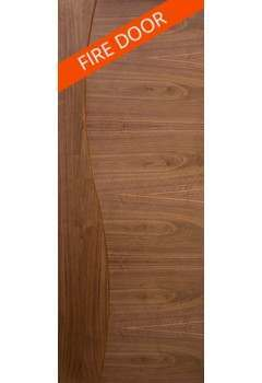 Internal Fire Door Walnut Cadiz Prefinished
