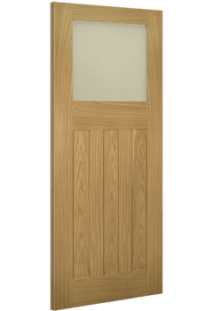 Internal Door Oak Cambridge 1930 with Obscure Glass Untreated SPECIAL OFFER!