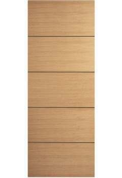 Internal Fire Door Oak Santandor with Dark Walnut Painted Groove Prefinished DISCONTINUED CHECK STOCK LEVELS