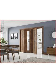 Internal FOLD Walnut Prefinished Folding Door System in Various Finishes to suit Deanta Doors (Frame Only)