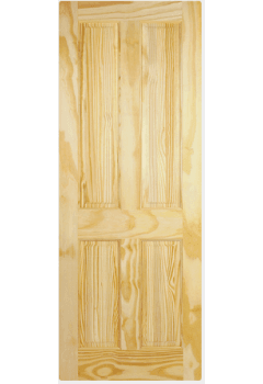 Internal Door Clear Pine 4 Panel Untreated LPD