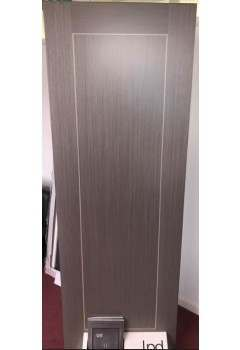 Internal Fire Door Chocolate Grey Inlay 1 Panel with Light Grey Inlay Prefinished DISCONTINUED CHECK STOCK LEVELS