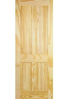 Internal Door Clear Pine 4 Panel Untreated LPD