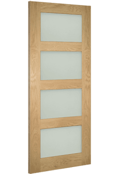 Internal Door Oak Coventry with Clear Glass Unfinished SPECIAL OFFER!