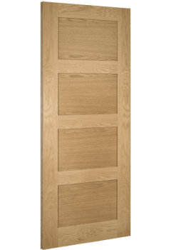 Internal Door Oak Coventry 4 Panel PREFINISHED - SPECIAL OFFER - 18mm lippings