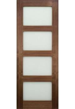 Internal Door Walnut Glazed Prefinished