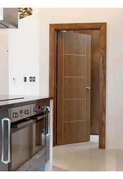 Internal Door Eco Mocha Soft Walnut Vertical Grain Prefinished - Standard Core & Internal Walnut Doors - Oakwood Doors and Spray Finishes