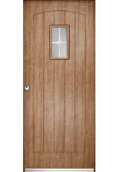 LPD Enduradoor External Solid Cottage 1 Light Doorsets OAK Discontinued CLEARANCE
