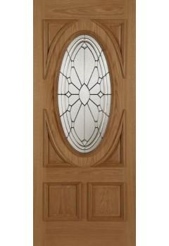 External Door Oak Sovereign with Raised Moulding 1 Side