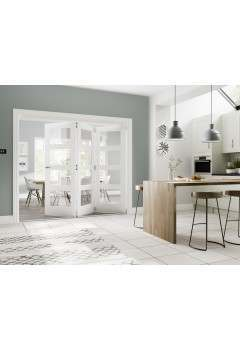 Internal FOLD White Primed Folding Door System in Various Finishes to suit Deanta Doors (Frame Only)