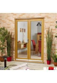 External Oak Nuvu 6ft French Door Set Prefinished SPECIAL OFFER - DISCONTINUED
