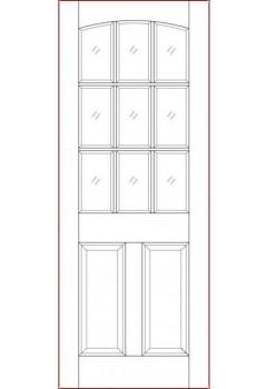 External Door Hardwood Sterling Georgia Dowelled Unglazed Untreated