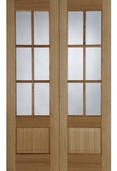 Internal Door Pair Oak Hampstead Prefinished