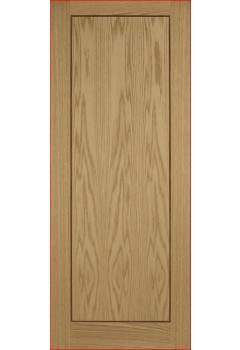 """CLEARANCE Internal Door Oak Inlay 1 Panel with Walnut Inlay Pre finished - 27"""" x1"""