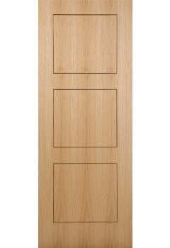 Internal Door Oak Inlay 3 Panel with Walnut Inlay Pre finished SPECIAL OFFER