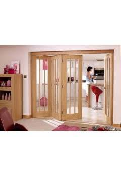 Internal Oak Nuvu Folding Sliding Doorset (Frame Only) Supplied Untreated