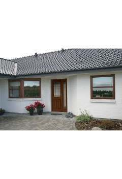 External Part L Compliant Burgundy, Sidelight and Sidelight Frame Kit Package - Supplied Untreated