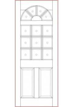 External Door Hardwood Sterling Colonial M&T Unglazed Untreated