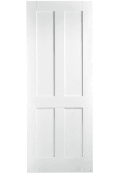 Internal Fire Door White Primed London Shaker 4 Panel LPD