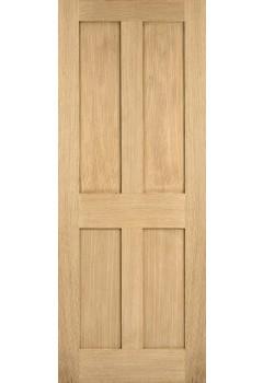 Internal Door Oak London Shaker 4 Panel Untreated LPD