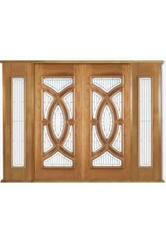 External Oak Door Majestic Grand Entrance Kit with Two x Majestic Sidelights