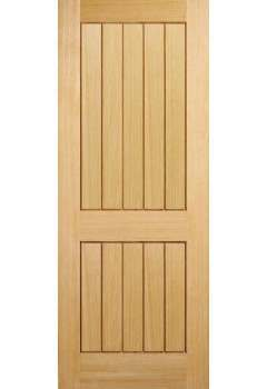 Internal Fire Door Oak Mexicano 2 Panel Untreated