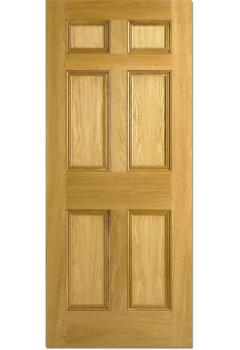 Internal Door Oak Nostalgia 6 Panel with Bolection Mouldings Untreated